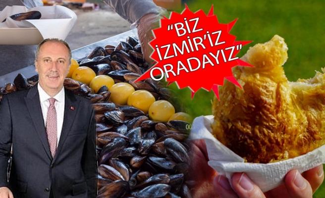 CHP İzmir'den İnce'nin mitingine boyozlu, midyeli çağrı