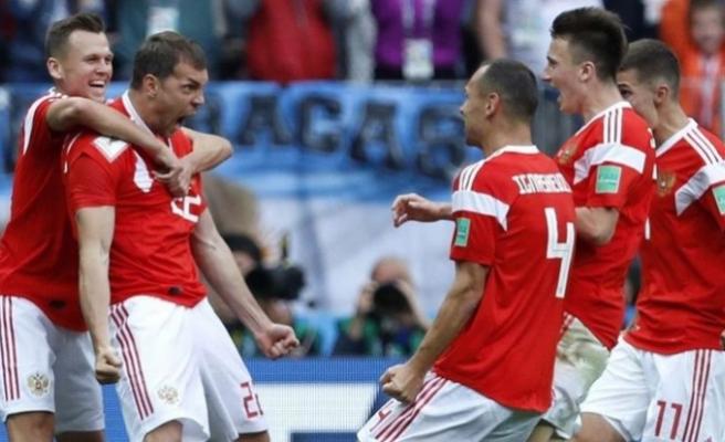 Dünya Kupası'nın açılış maçında kazanan Rusya