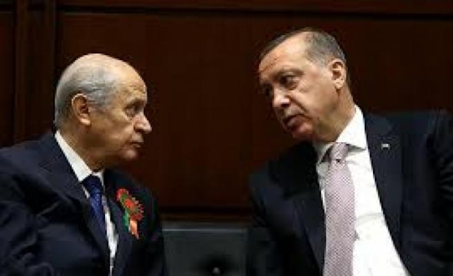 Erdoğan ve Bahçeli görüşmesi başladı!