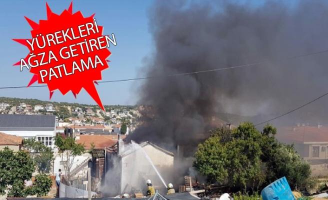 İzmir'in turizm cennetinde yangın