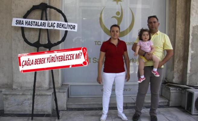 Minik Çağla'nın ailesinden İl Sağlık Müdürlüğü'ne siyah çelenk