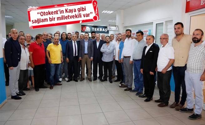 Otokent esnafından AK Partili Kaya'ya destek