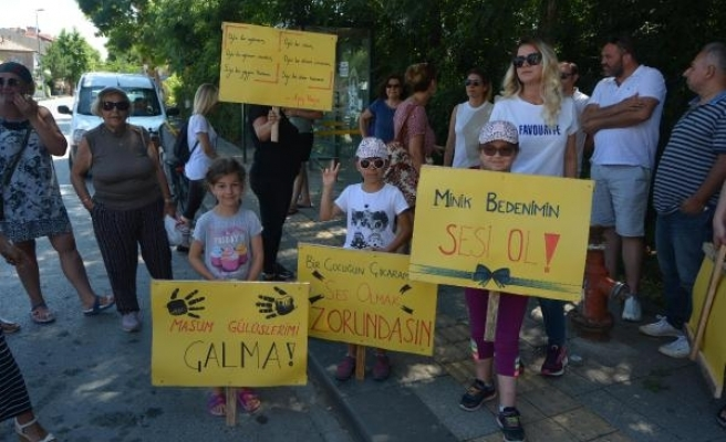 Ağva'da çocuk istismarı ve cinayetlerini protesto yürüyüşü