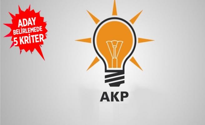 AK Parti'den aday belirlemede 5 kriter