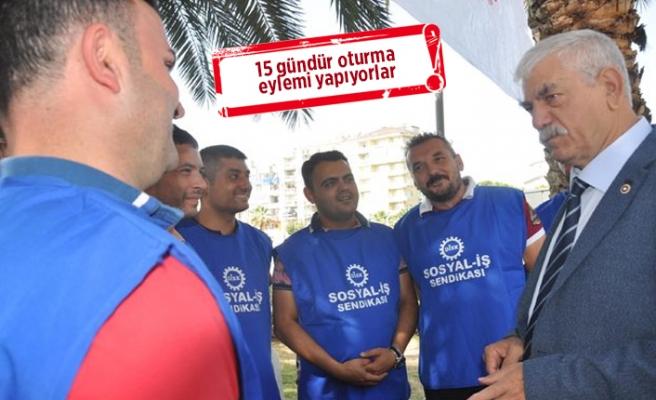 Aydın'da işten atılan işçilere Beko'dan destek