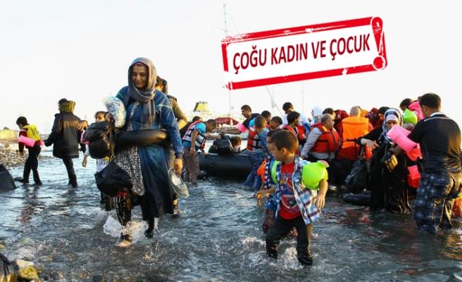 Çeşme'de 58 mülteci yakalandı