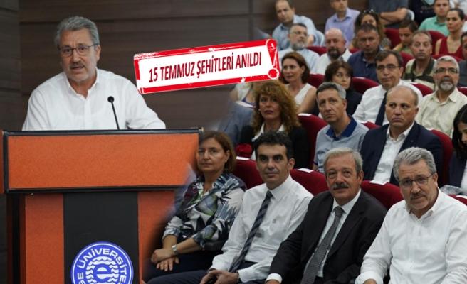 Ege'de 15 Temmuz Demokrasi ve Milli Birlik Günü Paneli düzenlendi