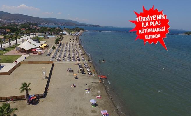 İzmirlilerin 'serin' durağı: Urla Kum Denizi Plajı