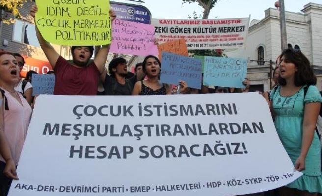 Kadıköy'de çocuk cinayetleri protestosu