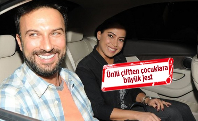 Tarkan ile Pınar Tevetoğlu'ndan çocuklara büyük jest!