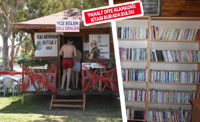 Türkiye'nin ilk plaj kütüphanesi İzmir'de!