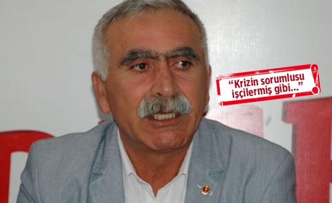 DİSK Ege Bölge Temsilcisi Sarı'dan 'kararname' tepkisi