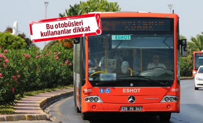 İzmir'de 4 otobüs hattı iptal oldu