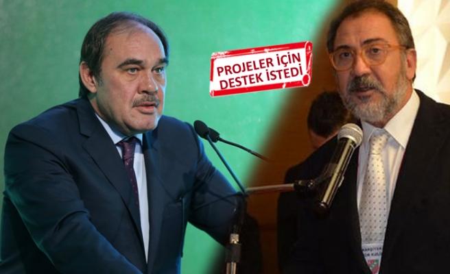 Karşıyaka Başkanı Büyükkarcı, TFF Başkanı Demirören ile görüştü