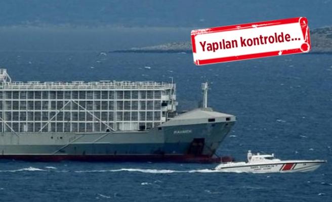 O gemi Çeşme'den ayrıldı
