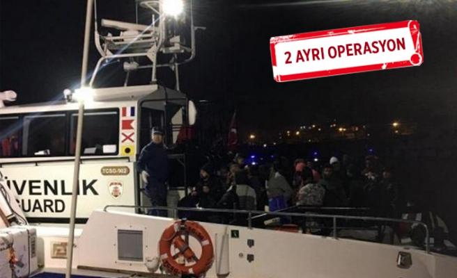 Çeşme ve Seferihisar'da 97 kaçak göçmen yakalandı