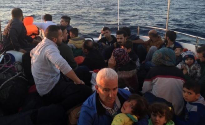 Didim'de 32 kaçak göçmen yakalandı