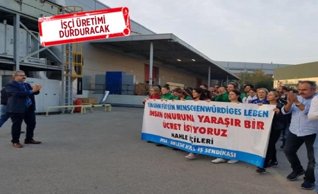 Ege Serbest Bölge'de 550 işçi grev ilanını astı