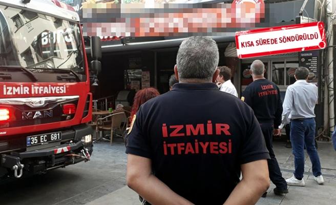 İzmir'de, fast food restoranında yangın