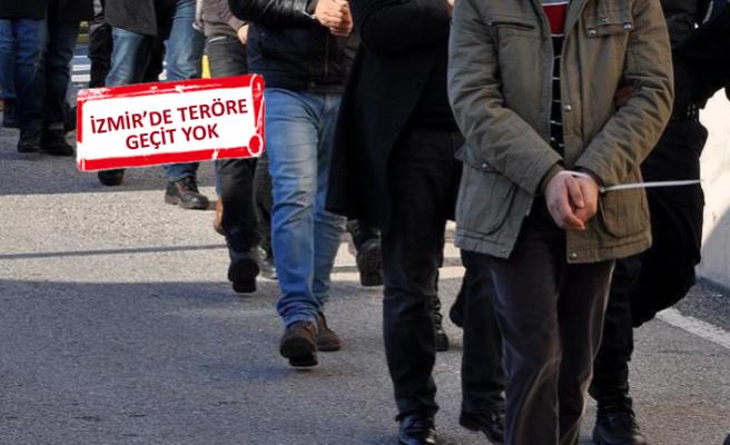 İzmir'de teröre darbe! PKK gösterilerini organize edenler gözaltına alındı