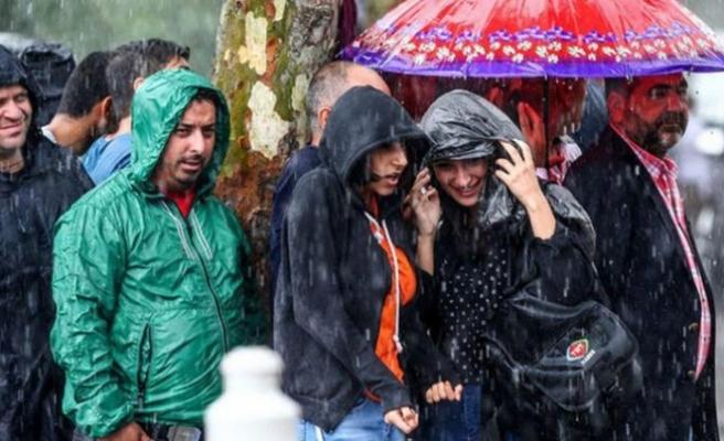 Meteoroloji sağanak yağış için saat verdi