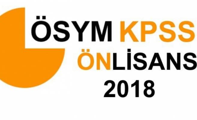 2018 KPSS Önlisans sonuçları açıklandı