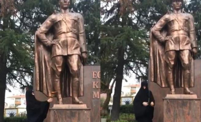 Atatürk Anıtı'na baltayla saldırıda yeni gelişme