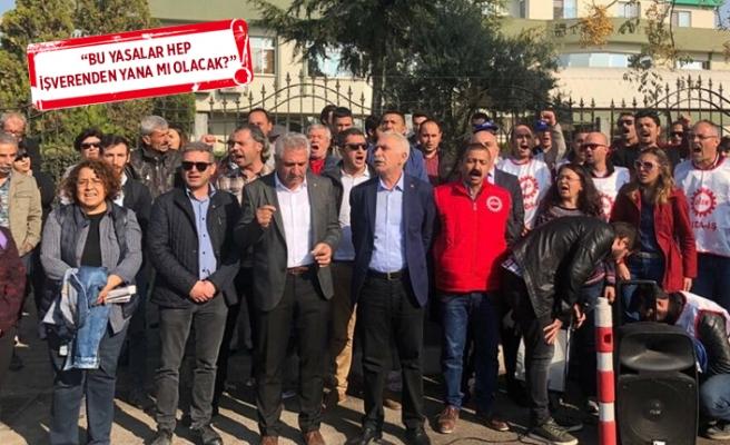 DİSK'ten TARİŞ'te eylem' Gerginlik büyüyor
