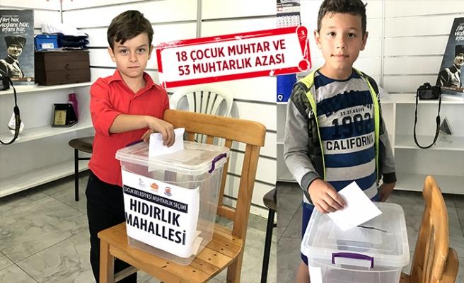 Seferihisar'da seçim zamanı: Çocuklar muhtarlarını seçti