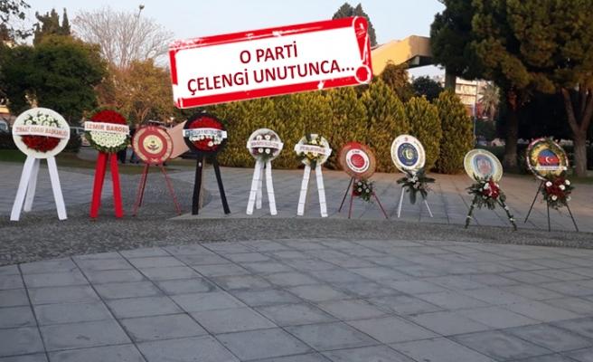 Selçuk'ta 10 Kasım anma töreninde 'çelenk' krizi!