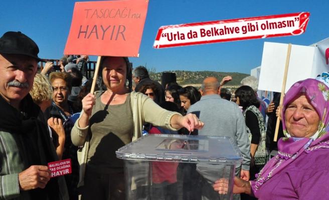 Taş ocağına temsili referandum ile 'hayır' dediler