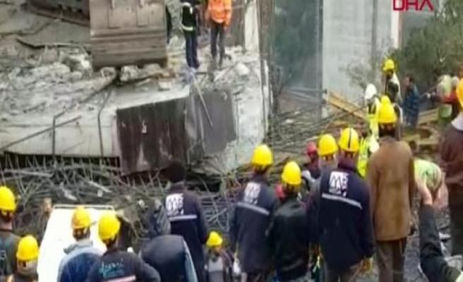 Viyadük'te beton blok düştü! İşçiler altında kaldı