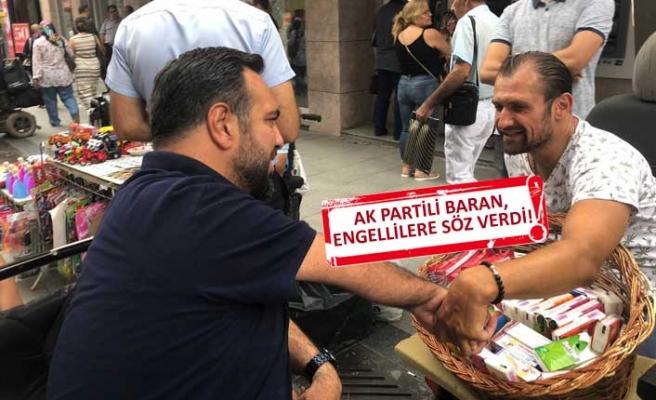 AK Partili Baran: Karşıyaka, engelli dostluğu sayesinde parmakla gösterilecek!