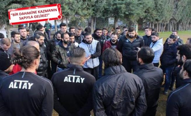 Altay'da taraftarlardan futbolculara şoke eden uyarı!