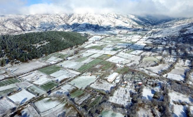 Bozdağ'da kış manzarası