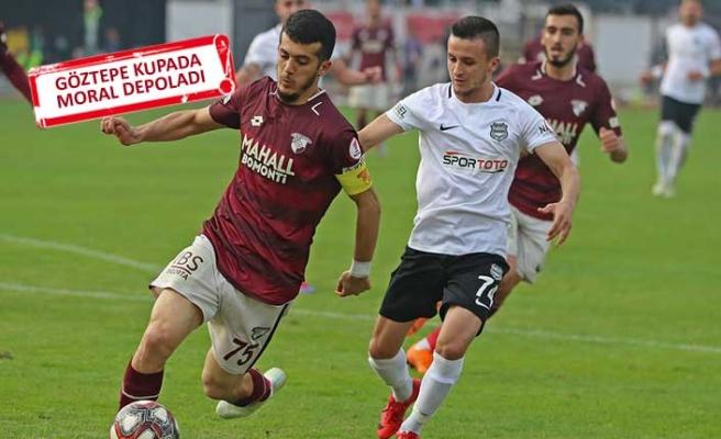 Göztepe, Nazilli'yi 3 golle yenerek kupada tur kapısını araladı