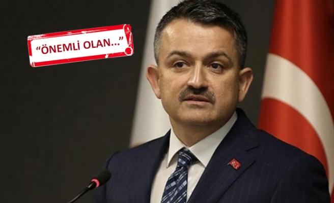 Bakan Pakdemirli, o eleştirilere İzmir'de yanıt verdi