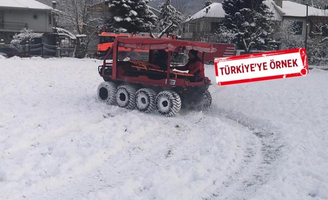 Büyükşehir'in '8 tekerlekli süper aracı'