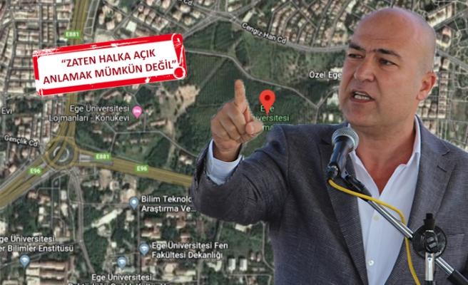 CHP'li Bakan, 'üniversiteye millet bahçesi'ni Meclis'e taşıdı