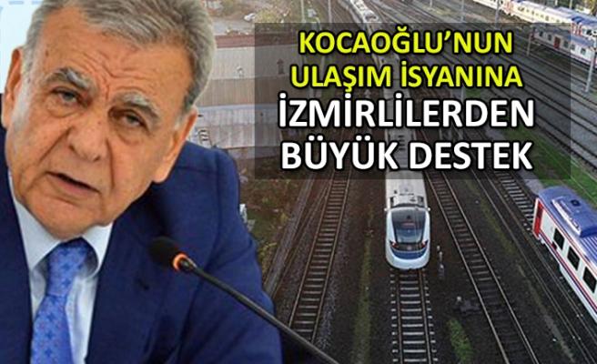 Kocaoğlu'nun ulaşım isyanına İzmirlilerden destek