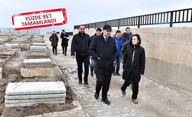 Büyükşehir'den 'çift katlı mezarlık'