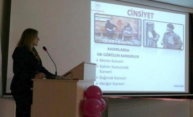 Foça'da kanser toplantısı