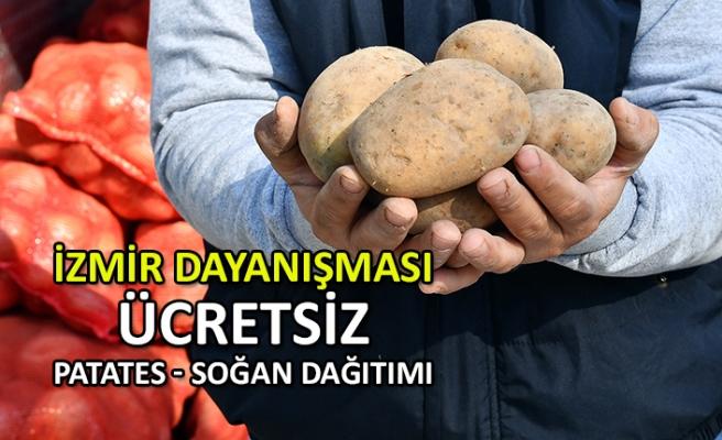 İzmir Büyükşehir'den ücretsiz patates soğan dağıtımı