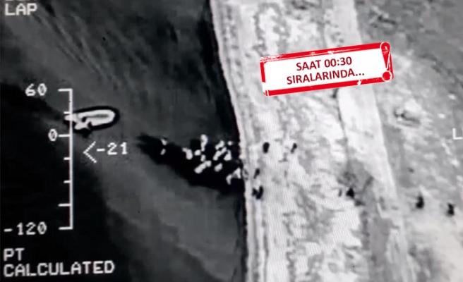 İzmir'de 107 kaçak yakalandı: Havadan tespit edildiler