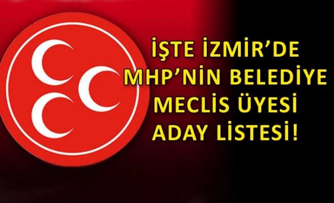 MHP'nin İzmir listesinde hangi isimler var?