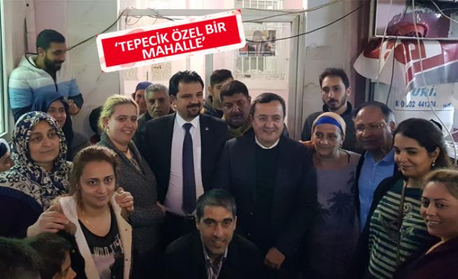 Tepecik'te Abdül Batur'a muhteşem karşılama