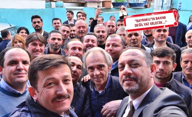 AK Partili Dağ ve Aslan Bayraklı'da seçim turunda