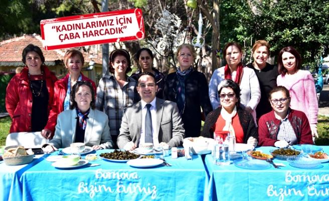 Bornova'nın üreten kadınlarından Atila'ya teşekkür