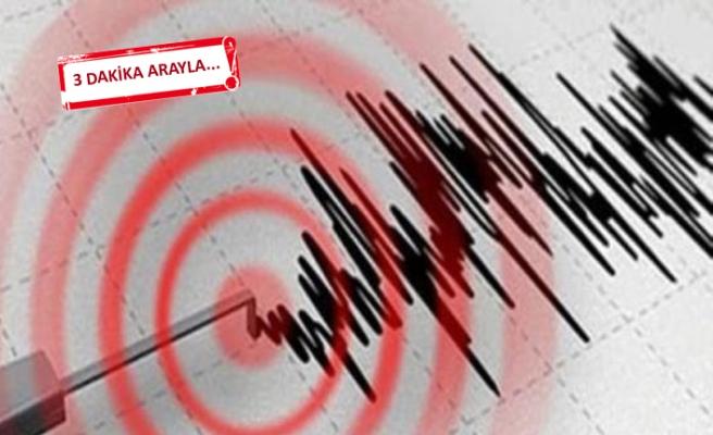Çanakkale'de art arda 2 deprem!