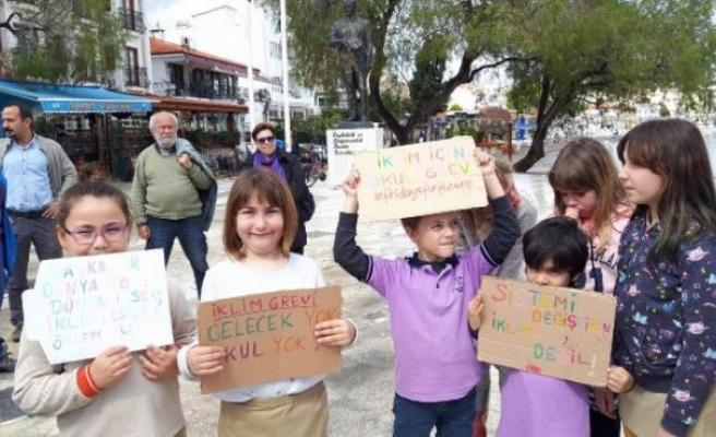 Datçalı öğrencilerden iklim değişikliği için eylem